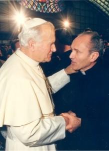 Con San Giovanni Paolo II