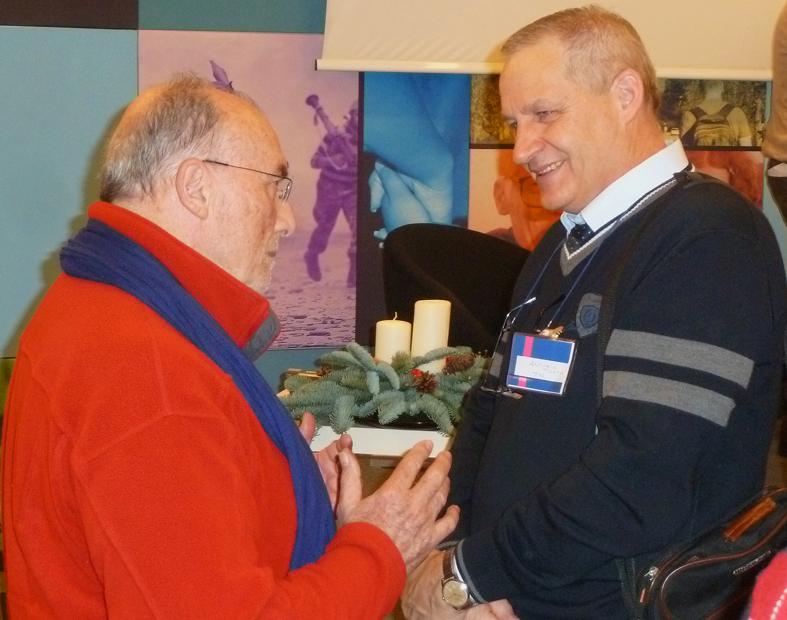 Antonio Tisato (a destra) con Michel Pochet