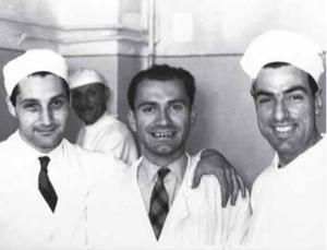 Maras a Pisa con Enrico Cavallini (a sinistra)
