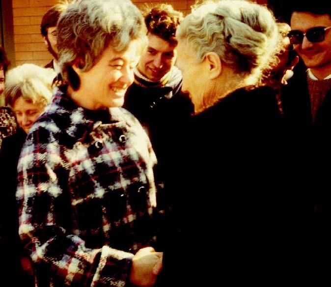 Nella foto: Chiara Lubich con Albertina