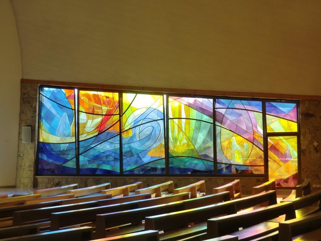 Santuario Maria Theotokos Vetrata opera di Dina Figueiredo