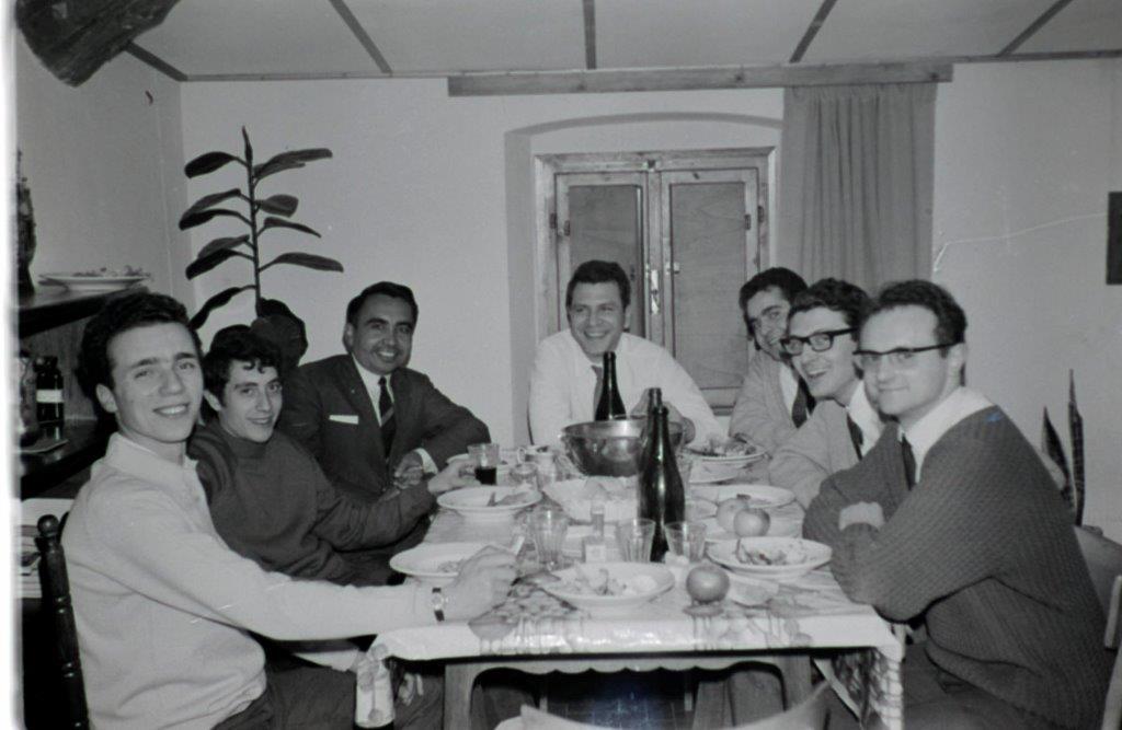 Aurelio Lagorio nel suo focolare a Loppiano