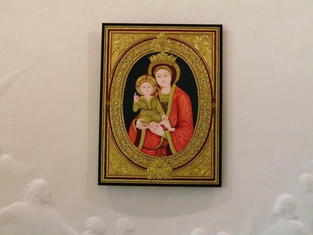 Maria col Bambino opera dell'artista indù Kalaichelvan
