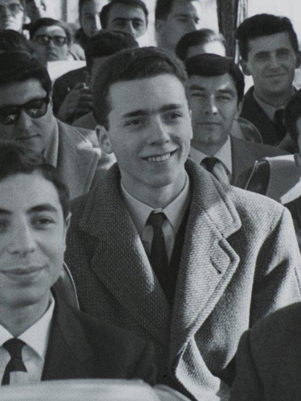 In primo piano Aurelio Lagorio, dietro di lui sulla destra Adolfo Giorgio