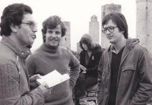 Michele Genisio a destra, in una gita durante il suo periodo a Loppiano, 1978