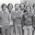 Michele Genisio, il terzo da sinistra, con il suo focolare a Loppiano 1978