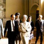 Maras accompagna Chiara e Don Foresi in una visita a Montet nel 1982